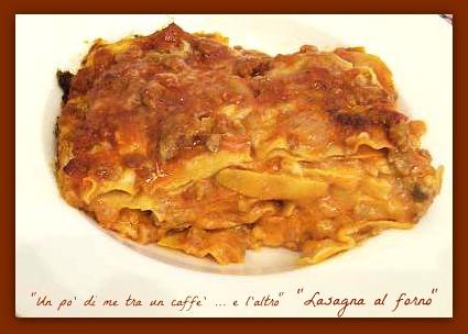 lasagna  fetta