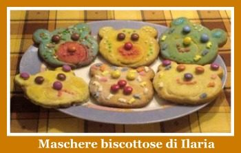 Biscotti a forma di maschera di carnevale