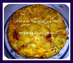 Frittata con patate galbanino prosciutto crudo e crescenza