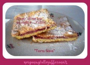 Torta Slava con mele e marmellata