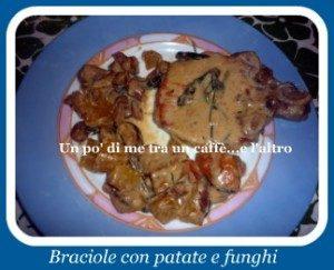 Braciole di maiale con funghi e patate
