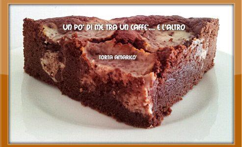 Torta Amaricò: amaretti, ricotta e cioccolato