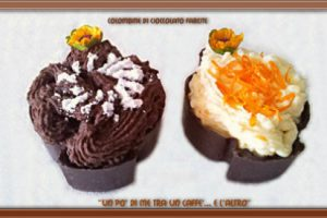 Colombine di cioccolato fondente doppia farcitura