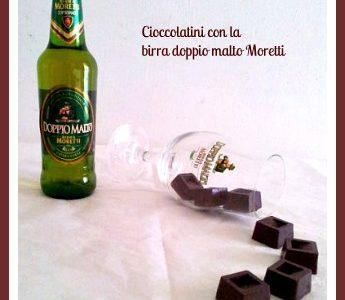 Cioccolatini con birra doppio malto Moretti
