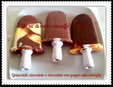 Ghiacciolo cioccolato e yogurt vaniglia