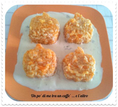 Sformatini di riso con la zucca