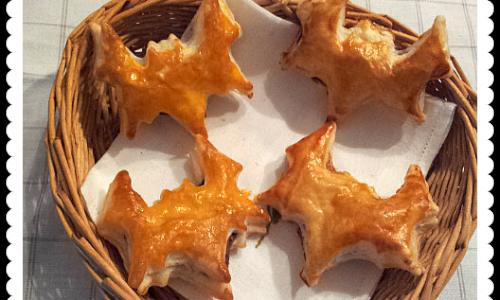 Pipistrelli di pastasfoglia con la Nutella, ricetta per Halloween