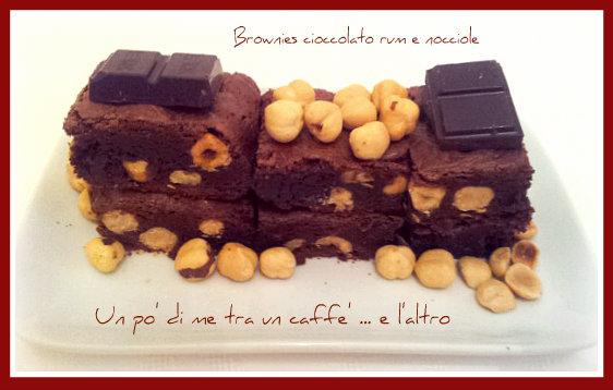 Brownies cioccolato rum e nocciole