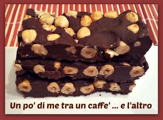 Torrone cioccolato e nocciole
