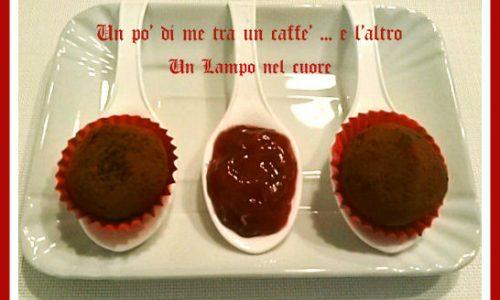 """Tartufi cioccolato fondente e confettura di lamponi """"per unlamponelcuore"""""""