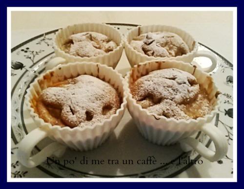 Muffins con mele e rum